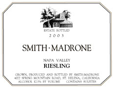 Smith-Madrone-Spring Mountain-Napa Valley Riesling