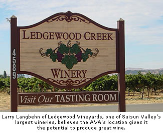 Ledgewood Vineyards is one of Suisun's largest wineries