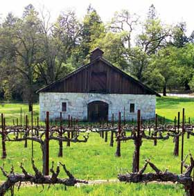 Atalon vineyards and barn