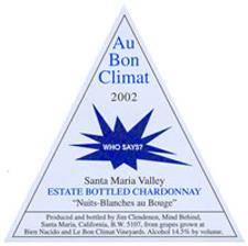 Au Bon Climat Bien Nacido Chardonnay