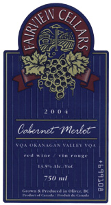Fairview Cellars Cabernet Merlot