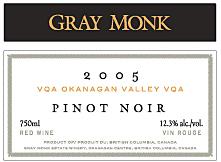 Gray Monk Pinot Noir