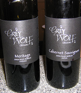 Grey Wolf wines