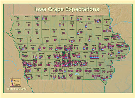 Iowa State Univ. winery map