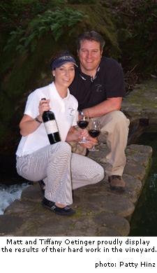 Matt Oetinger with wife Tiffany