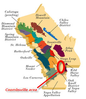napa map Coombsville area