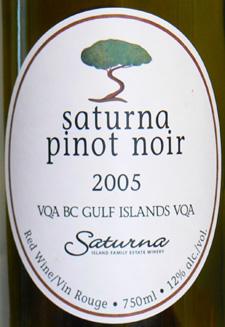 Saturna Pinot 2005