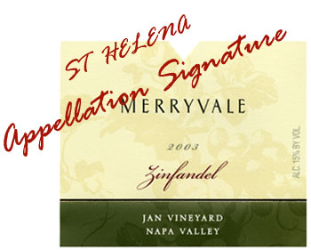 Merryvale's Jan Vineyard Zinfandel - St. Helena Appellation Signature