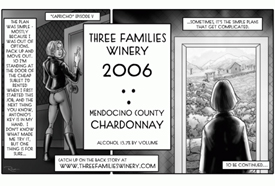 Three Families Winery 2006 Chardonnay  (Mendocino County)