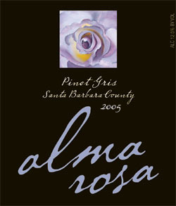 Wine:Alma Rosa Winery and Vineyards 2005 Pinot Gris  (Santa Barbara County)