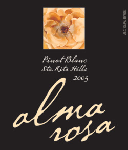 Alma Rosa Winery and Vineyards 2005 Pinot Blanc  (Sta. Rita Hills)
