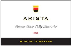 Arista Winery 2005 Pinot Noir, Mononi Vineyard (Russian River Valley)