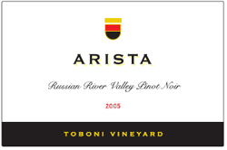 Arista Winery 2005 Pinot Noir, Toboni Vineyards (Russian River Valley)