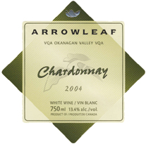 Arrowleaf Cellars 2004 Chardonnay  (Okanagan Valley)