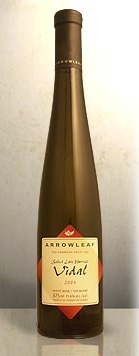 Arrowleaf Cellars 2004 Vidal Select Late Harvest  (Okanagan Valley)