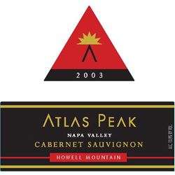Atlas Peak Vineyards 2003 Cabernet Sauvignon  (Howell Mountain)