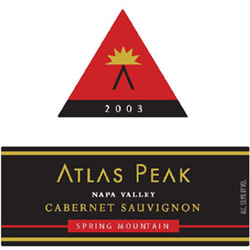 Atlas Peak Vineyards 2003 Cabernet Sauvignon  (Spring Mountain District)