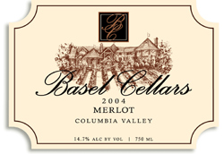 Wine:Basel Cellars Estate Winery 2004 Merlot  (Columbia Valley)