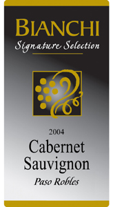 Bianchi Winery 2004 Cabernet Sauvignon, Signature Selection (Paso Robles)
