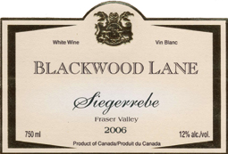 Wine:Blackwood Lane Vineyards & Winery 2006 Siegerrebe  (Fraser Valley)