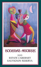 Bodegas Aguirre Winery and Vineyards 2003 Cabernet Sauvignon Reserve, Estate  (Livermore Valley)