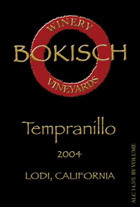 Bokisch Vineyards & Winery 2004 Tempranillo  (Lodi)