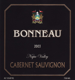 Wine:Bonneau Wines 2003 Cabernet Sauvignon  (Napa Valley)