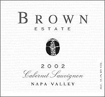 Brown Estate Winery 2002 Cabernet Sauvignon, Estate (Napa Valley)