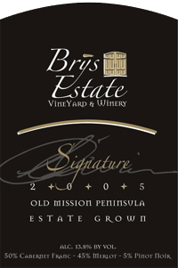 Wine:Brys Estate Vineyard and Winery 2005 Signature, Estate (Old Mission Peninsula)