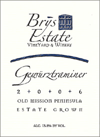 Wine:Brys Estate Vineyard and Winery 2006 Gewurztraminer, Estate (Old Mission Peninsula)
