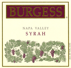 Burgess Cellars 2004 Syrah, Ink Grade, Estate (Napa Valley)