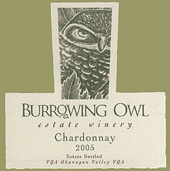 Burrowing Owl Vineyards 2005 Chardonnay  (Okanagan Valley)