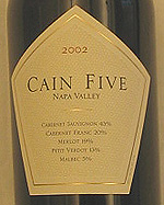 Cain Vineyard & Winery 2002  (Napa Valley)