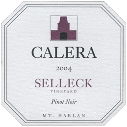 Calera Wine Company 2004 Pinot Noir, Selleck Vineyard (Mount Harlan)