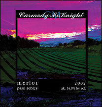 Carmody McKnight Estate Wines 2002 Merlot, Estate (Paso Robles)