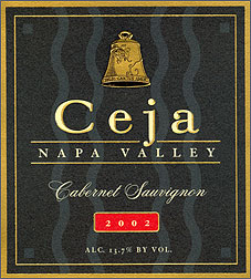 Ceja Vineyards 2002 Cabernet Sauvignon  (Napa Valley)
