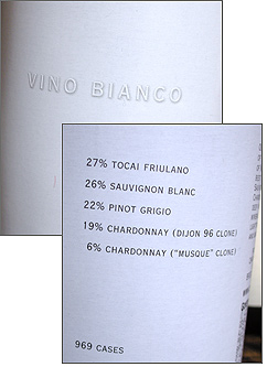 Channing Daughters Winery 2006 Vino Bianco  (Long Island)