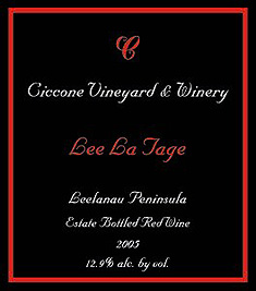 Ciccone Vineyard & Winery 2005 Lee La Tage  (Leelanau Peninsula)