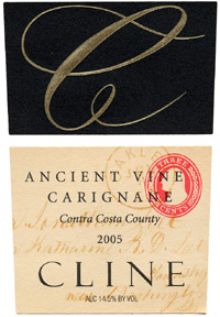 Wine:Cline Cellars 2005 Ancient Vines Carignane  (Contra Costa County)
