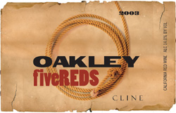 Wine:Cline Cellars 2003 Oakley Five Reds  (California)