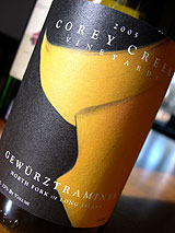 Corey Creek Vineyards 2005 Gewurztraminer  (North Fork of Long Island)