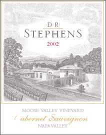 D.R. Stephens Estate 2002 Cabernet Sauvignon, Moose Valley Vineyard (Napa Valley)