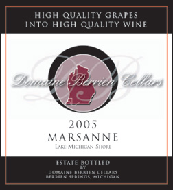Wine: Domaine Berrien Cellars 2005 Marsanne, Estate (Lake Michigan Shore)