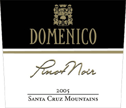 Wine:Domenico Wines 2005 Pinot Noir  (Santa Cruz Mountains)