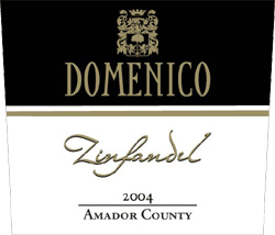 Wine:Domenico Wines 2004 Zinfandel  (Amador County)