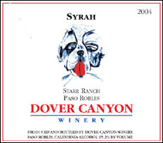 Dover Canyon Winery 2004 Syrah, Starr Ranch (Paso Robles)