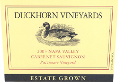 Duckhorn Vineyards Cabernet Sauvignon, Patzimaro Vineyard