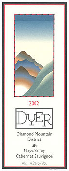 Dyer Vineyard 2002 Cabernet Sauvignon, Estate (Diamond Mountain District)