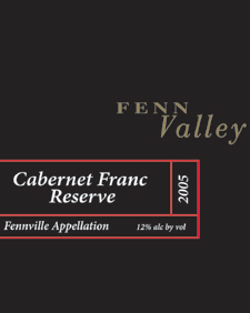 Wine:Fenn Valley Vineyards 2005 Cabernet Franc  (Fennville)