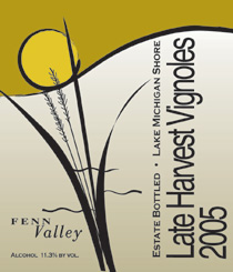 Wine:Fenn Valley Vineyards 2005 Late Harvest Vignoles  (Lake Michigan Shore)